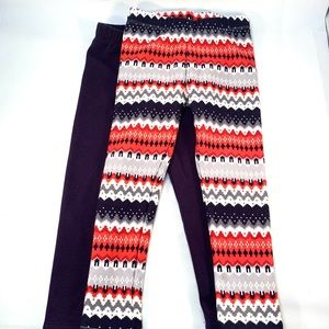 Gymboree Girls Fleece Pants XS (4) two pairs New